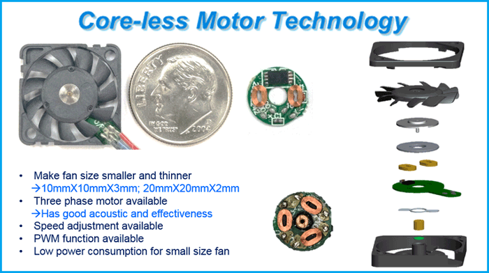 Core less motor technology